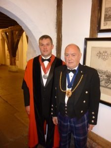 Deacon Mervyn Donald and Master Mathew Reid