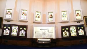 Main Satircase - Stained Glass Windows