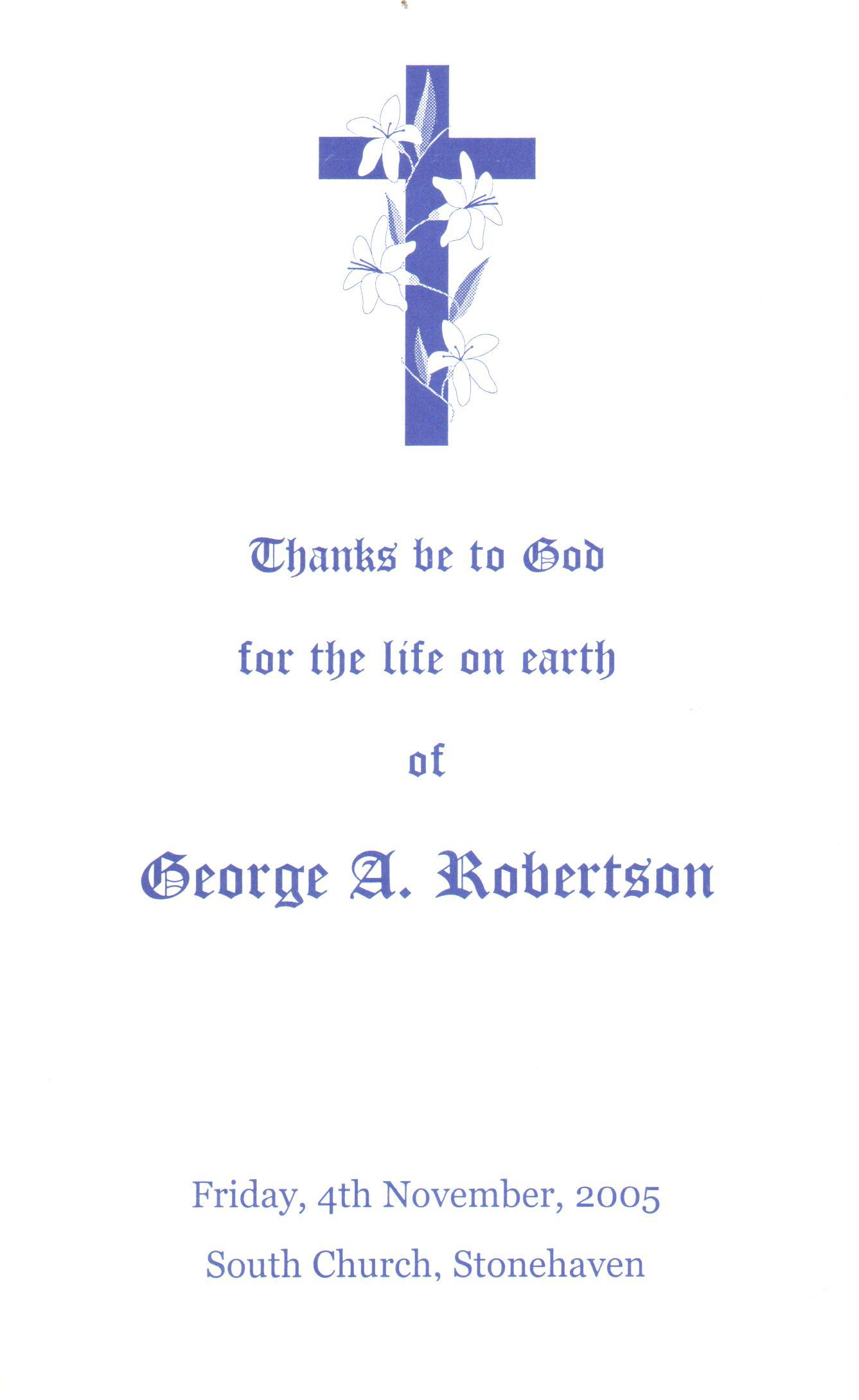 George A Robertson