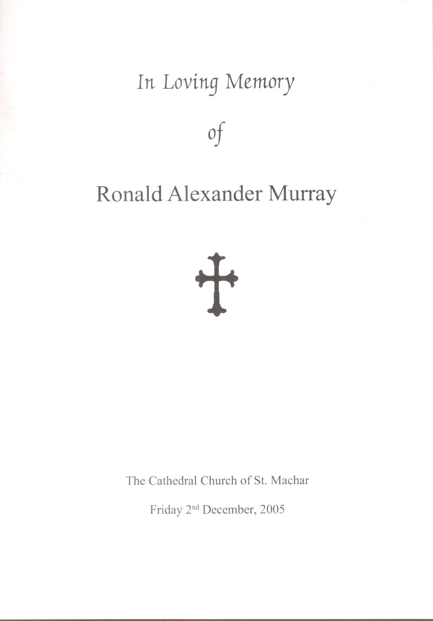Ronald A Murray