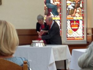 Rev Iain and Mrs Christine Thomson celebrating their Ruby Anniversary