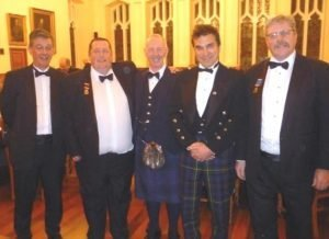 Shoemakers Sportmans dinner 2015 Pictured (left to right) Late Deacon Brian Donald, Boxmaster Alastair Hunter, Gordon Bradley, Iwan Tukalo and Late Deacon Brian Scott.
