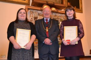 L-R Rebecca Moir, Ian Dale and Joanna O'Brien
