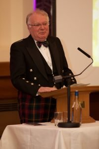 NHS Grampian Chairman Professor Stephen Logan speaking at the Health Board's staff and volunteer recognition event
