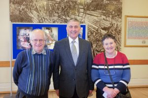 Graeme Nicol (centre) with competition winners Frank Riddell and Emily Noakes.