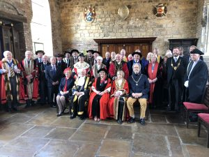 Photograph of the attendees of Company of Cordwainers of York's Charter Weekend